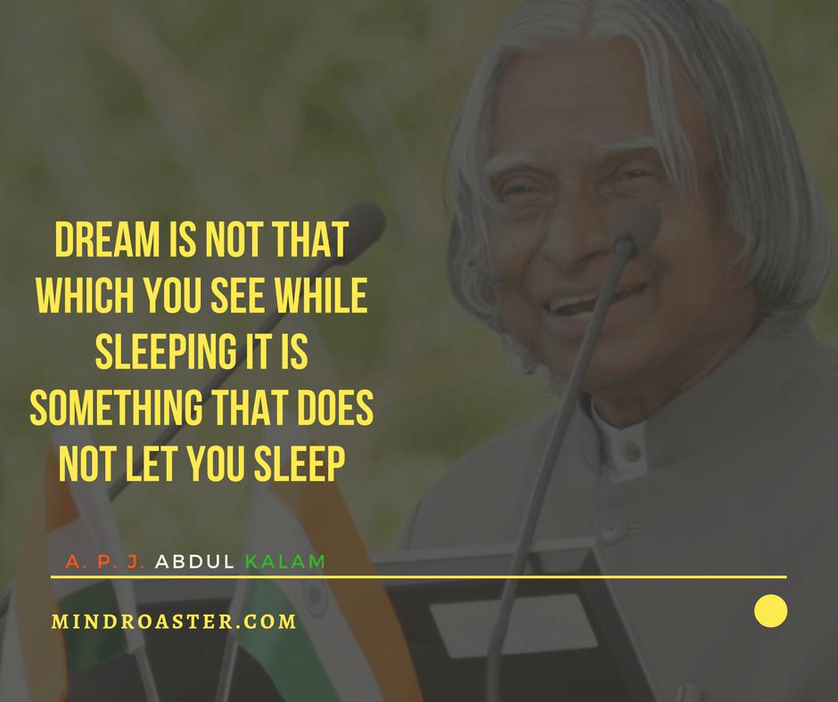 apj abdul kalam quotes on dreams