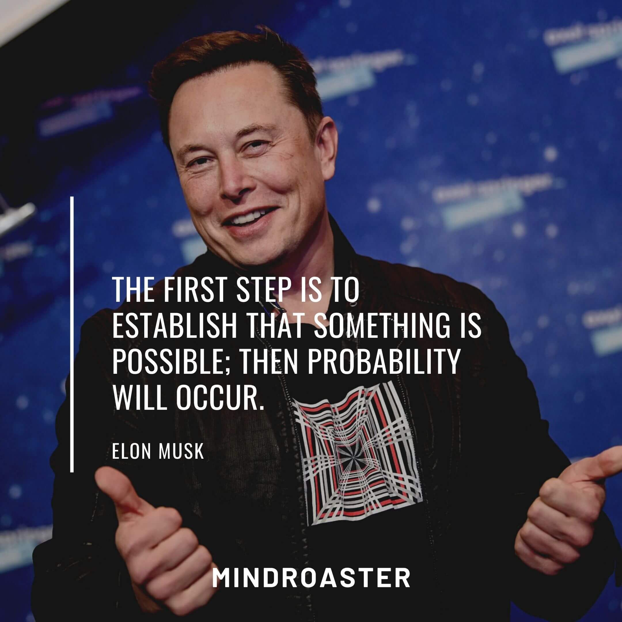 Success Quotes From Elon Musk