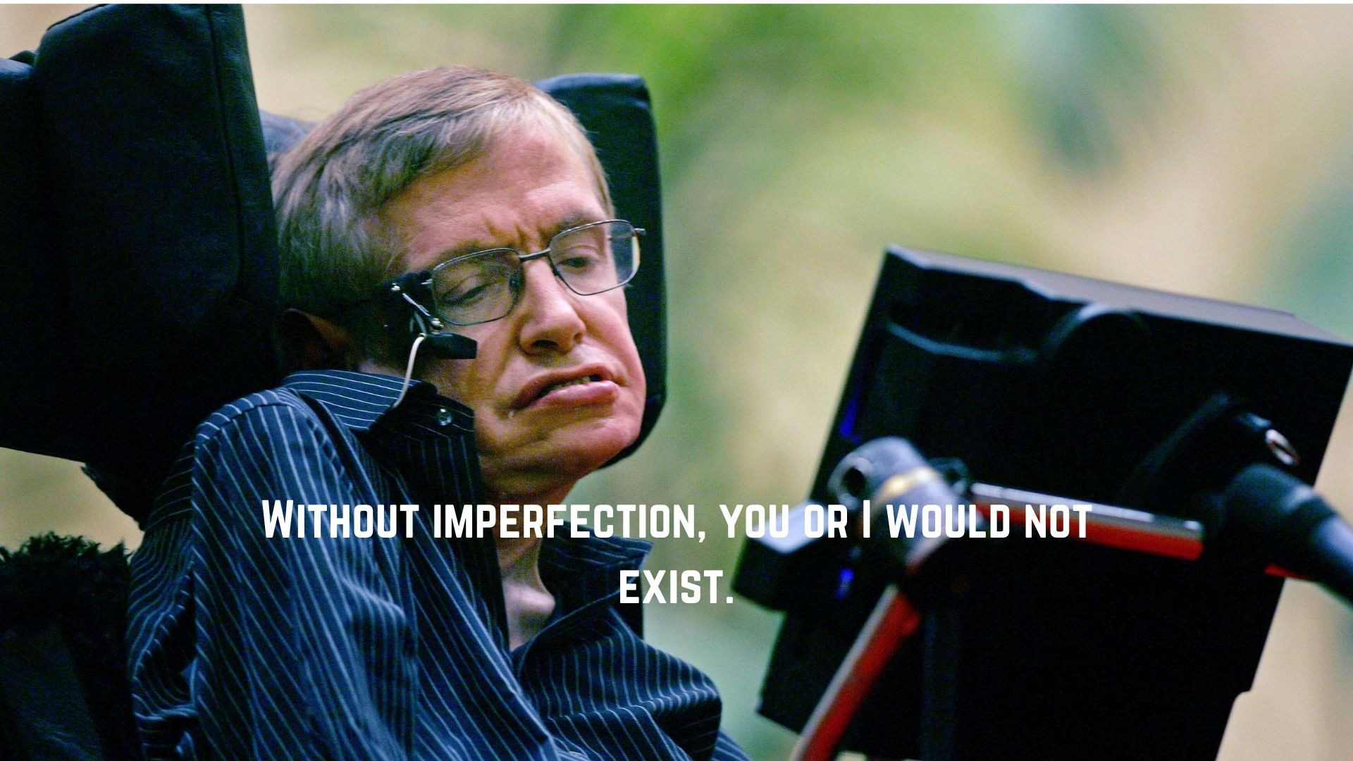 Without imperfection, you or I would not exist.